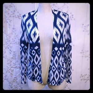 Chico's cardigan long sleeve drape cover up navy L